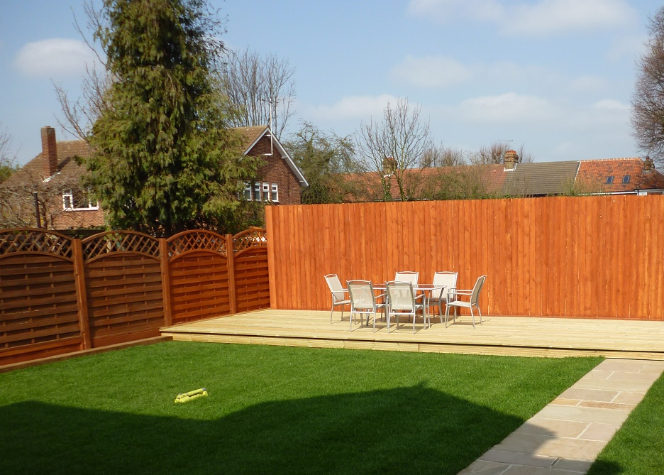 decking, fencing, turfing